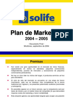 UPN - Ejemplo Plan de Marketing Solife