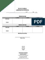 Rol de Guardias Personal Administrativo e Intendencia