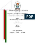 Ventaja Comparativa David Ricardo