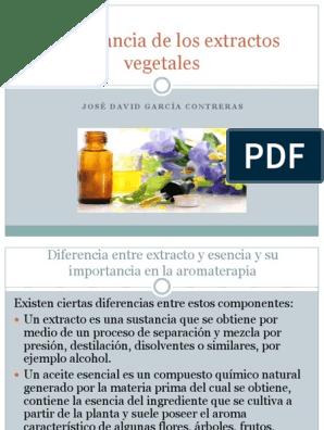 Entre extracto y esencia pdf diferencia