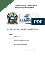 Examen Final Word Avanzado 2016
