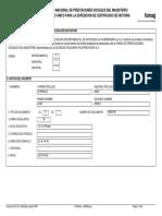 Certificado Fiduprevisora