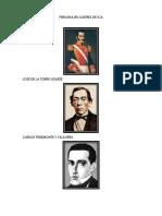 Personajes Ilustres de Ica