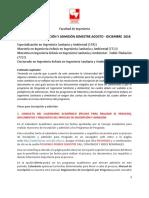 Documentos Exigidos Inscripción 2018