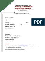 Boletin de Inscripcion Jornada Restauracion (1)