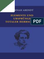 ARENDT, Hannah - Elemente Und Ursprünge Totaler Herrschaft (2011)