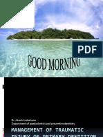 managementoftraumaticinjuryofprimarydentition-160509105349