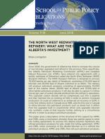 University of Calgary report on the economic viability of Alberta's North West Redwater Sturgeon Refinery