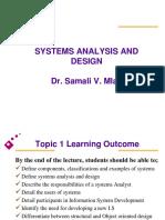 SAAD Lecture I - Intro