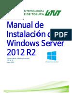 Manual de Instalacion de Windows Server 2012