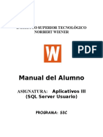 Aplicativos III SQL Server Usuario