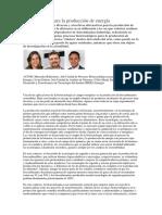 Biotecnología Para La Producción de Energía