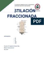 Trabajo Destilación Fraccionada 1