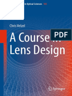 761 C. Velzel a Course in Lens Design - 2014