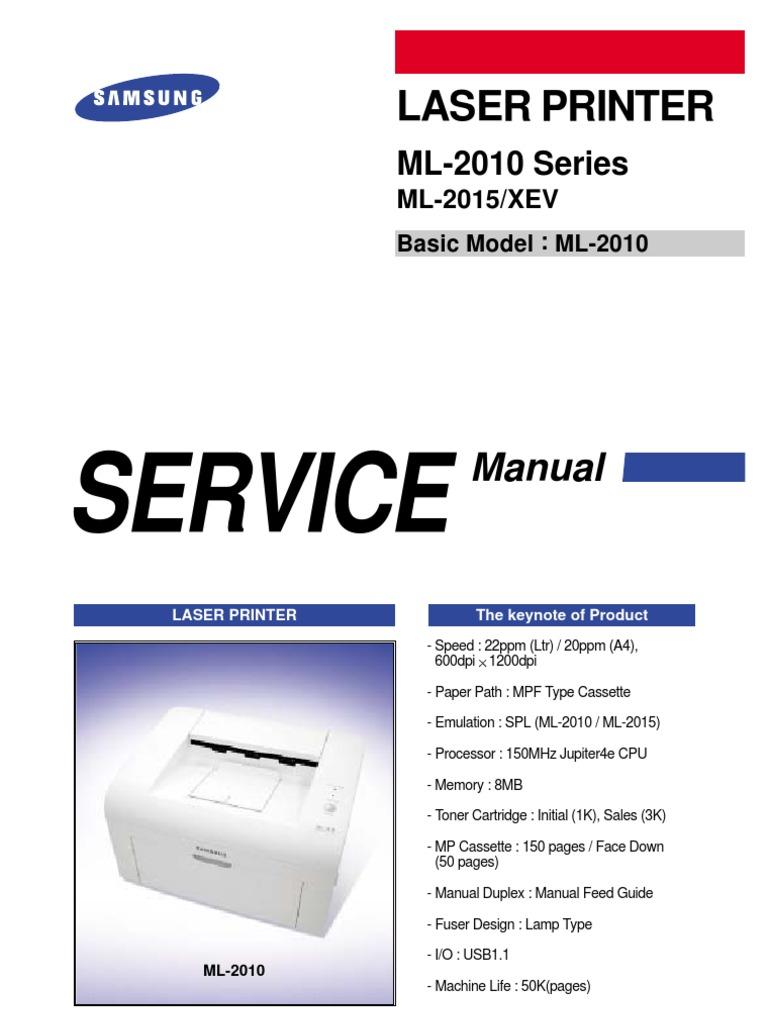 SAMSUNG Laser Printer ML2010 Series   Electrostatic