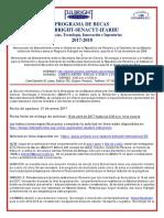 Anuncio Fulbright 2017 Subido a La Web