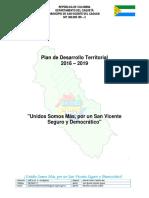 Plan de Desarrollo Territorial 2016 -2019