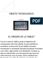 Objeto Tecnologico Tablet