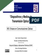 Modulo 5 Enlaces en Comunicaciones Opticas
