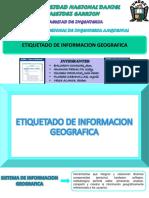 Etiquetado de Informacion Geografica