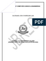 MTech DB and Compiler Lab Manual