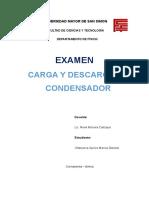 Carga y Descarga de Condensador (Examen)