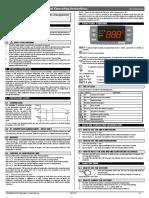Hướng dẫn sử dụng bộ điều khiển nhiệt độ Dixell-XR72CX