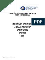 2. INSTRUMEN LITERASI MEMBACA SARINGAN 2 TAHUN 1 2015.pdf