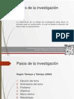 Pasos de La Investigacion