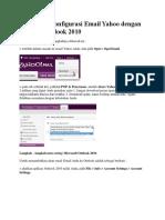 Cara Mengkonfigurasi Email Yahoo Dengan Aplikasi Outlook 2010