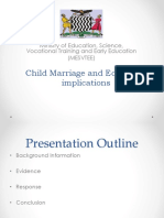 Child Marriages and Education Implications