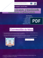 Convección de Masa y Transferencia Simultanea de Calor