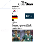 Germany Crash Out of 2018 World Cup Group - The Guardian