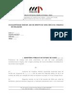 Modelo de Arquivamento - Estupro de Vulneravel - Ausencia de Ofensa Ao Bem Juridico