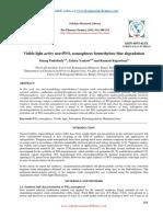 Visible Light Active Novelwo3 Nanospheres Formethylene Blue Degradation