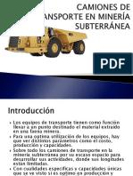 Camiones de Transporte minero