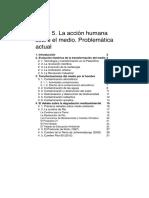 Tema 05 La acción humana sobre el medio. Problemática actual