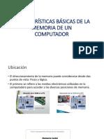 Características Básicas de La Memoria de Un Computador
