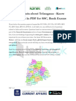 Major Points About Telangana Know Your States