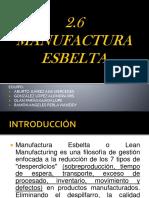 2.6 Manufactura Esbelta