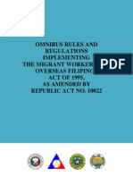 Omnibus Rules and Regulations implementing the Migrant Workers Act