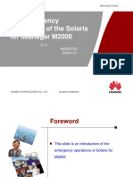 The Emergency Operations of the Solaris for IManager M2000-20090413-B-1.0