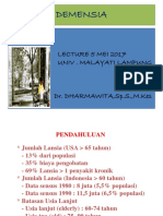 9. DEMENSIA Lecture ( Dr Darmawita)