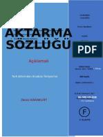 AKTARMA SOZLUGU