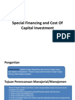 Ppt Special Financing and Cost of Capital Investment