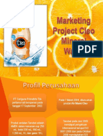 Marketing Project Cleo Mineral Water