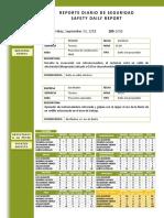 Ambulancia o Valla Reporte Diario 30-09-2011