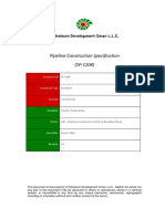 SP-1208 - Pipeline Construction Specification (Formerly PCS-01)