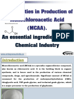 Opportunities in Production of Monochloroacetic Acid (MCAA)