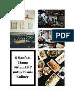 6 Manfaat Utama Sistem ERP Untuk Bisnis Kuliner